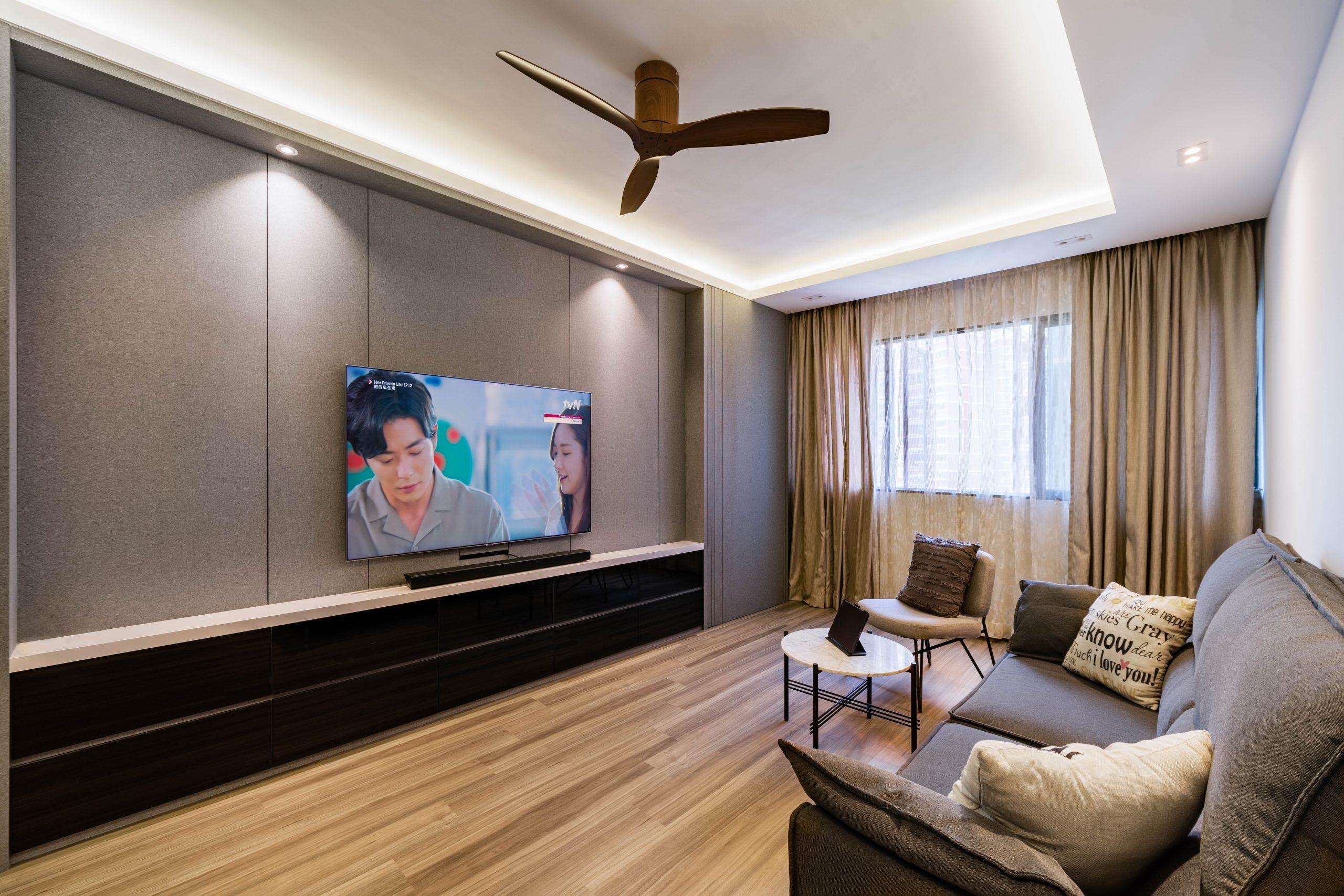 10 Clean-cut TV Feature Wall Design